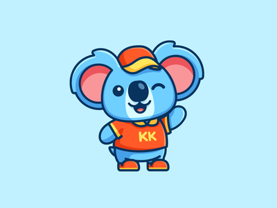 Koala - Additional Pose hat shirt stuffed animal feminine girl smile smiling waving welcoming puppet doll nonprofit organization koala bear kind kindness kids toddler illustrative illustration happy joyful fun funny friendly wink cute adorable child children cartoon comic character mascot logo identity brand branding
