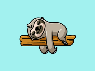 Sunday Mood sticker tshirt mood expression relax relaxing zoo park comfort comfortable smile smiling happy face sloth animal enjoy weekend lazy sunday sleep sleeping nap napping tree plant stem branch hanging on laying down cute fun funny child children character mascot illustrative illustration
