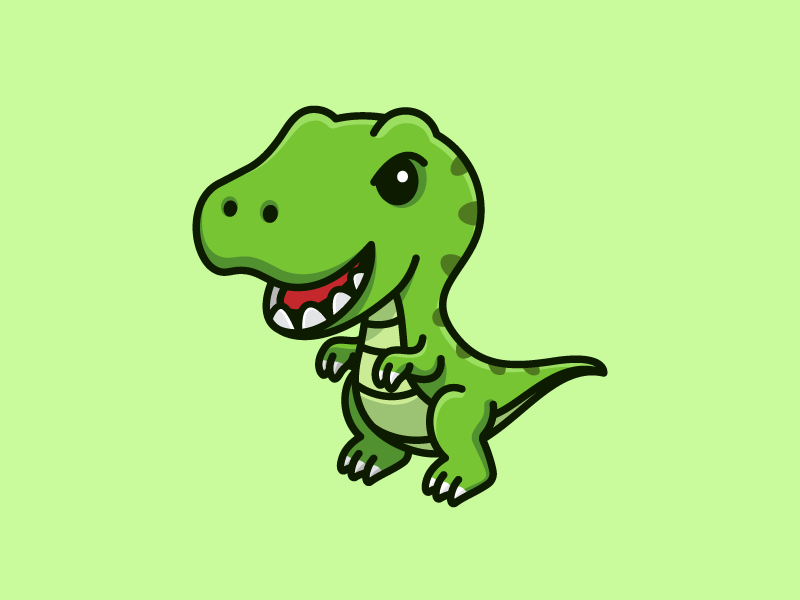 T-Rex child children t-shirt apparel outline stroke sharp teeth ancient wild adorable lovely cartoon comic illustrative illustration character mascot cute fun funny sticker design carnivorous creature jurassic reptile monster beast power powerful predator claw dinosaur animal tyrannosaurus rex trex t-rex