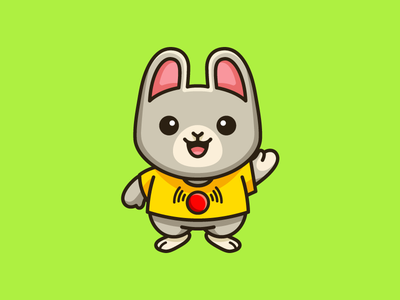 Ili Pika greet greeting innocent look smile smiling friendly happy ecommerce shop puppet soft kids toys push button rare animal china chinese bunny rabbit ili pika cartoon comic child children geometry geometric character mascot cute fun funny illustrative illustration brand branding logo identity