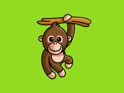 Baby Orangutan drawing sketch kids toddler child children cartoonish cartoony nature branch sticker design primate zoo wildlife animal outline stroke adorable lovely smile happy hanging tree monkey ape baby orangutan forest jungle sumatra indonesia cartoon comic character mascot cute fun funny illustrative illustration