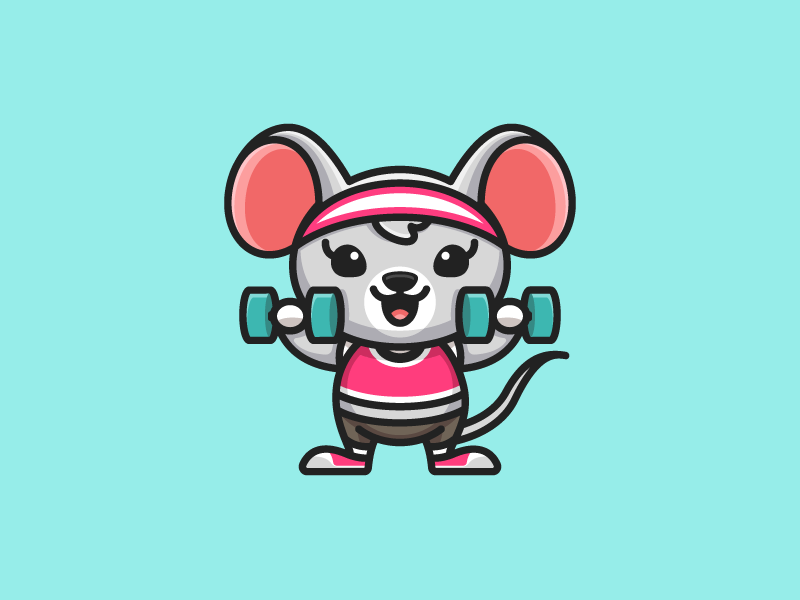 Dumbbells For Sale >> Rat Lifting Dumbbells by Alfrey Davilla | vaneltia on Dribbble