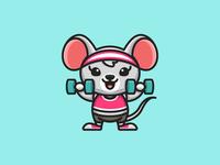 Rat Lifting Dumbbells