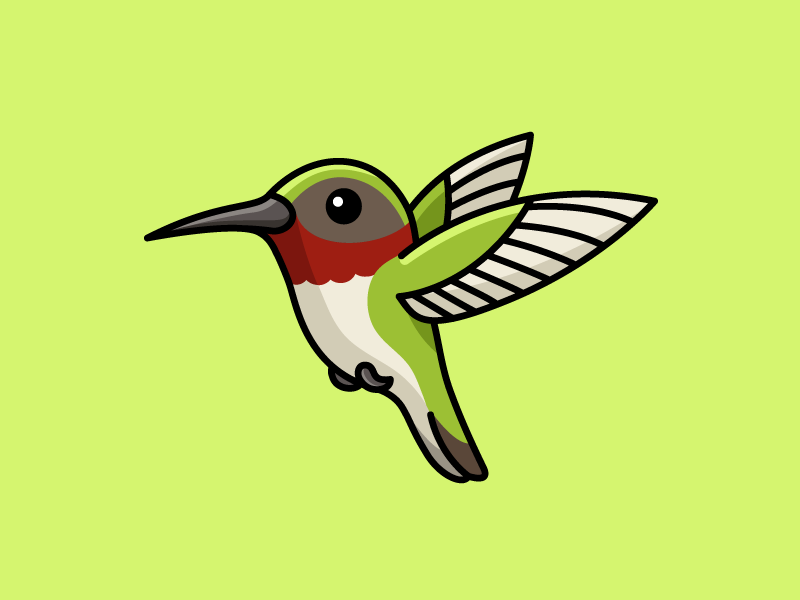 Hummingbird children flying fly green drawing cute adorable wings illustrator adobe illustrator vector simple illustration bird hummingbird cute fun funny illustrative illustration character mascot logo identity