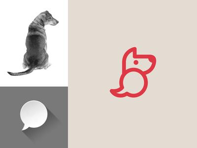 Dog + Speech Bubble