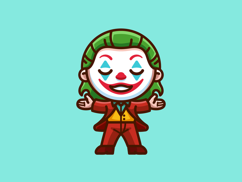 Joker - Freebie free villain character dc movie comic proud freebies png freebie illustration happy laugh smile adorable cute joaquin phoenix clown dark knight batman joker