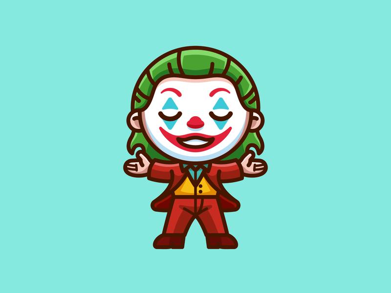 Joker - Freebie free villain character dc movie comic proud freebies png freebie illustration happy laugh smile adorable cute joaquin phoenix clown dark knight batman joker