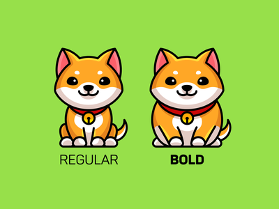 Regular Bold Italic hoodie apparel for sale shirt design illustration merch merchandise tshirt italic bold regular font style typography graphic designer humor funny adorable cute dog shiba inu