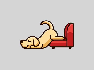 Too Lazy To Move animal humor adorable sleeping cute funny mood sofa lazy dog labradror retriever yellow labrador tshirt merchandise merch illustration shirt design for sale apparel hoodie