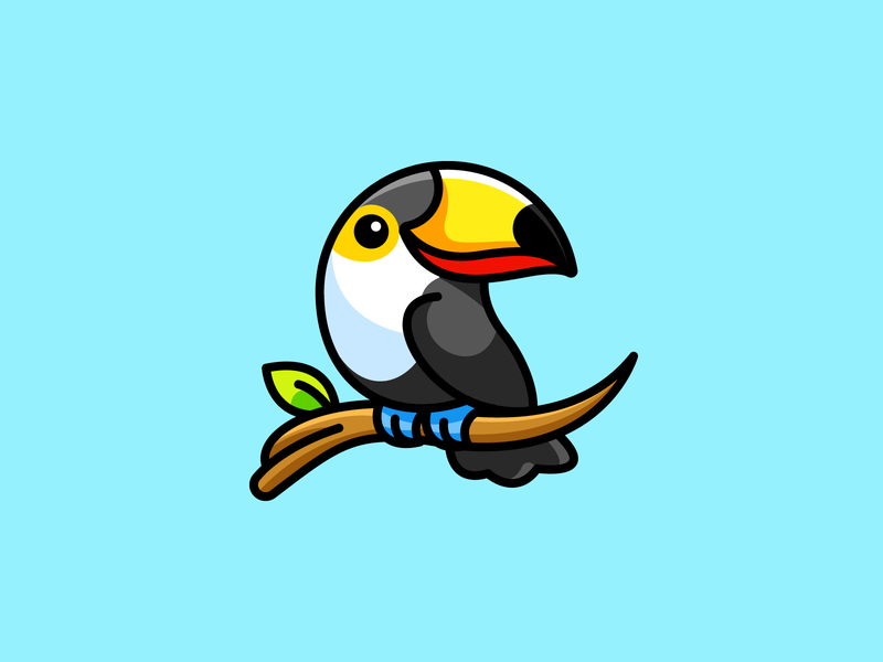 Toucan symbol character mascot friendly nature forest animal illustration illustrative cute argentina brazil south america tropical beautiful colorful bird amazon logo toucan