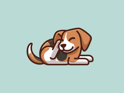 Beagle Dog Scratching