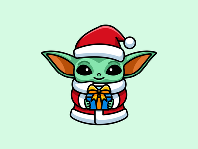 Baby Yoda - Freebie christmas stormtrooper themandalorian master movie star wars starwars fanart gift box png freebies freebie free cartoon comic character cute adorable illustration baby yoda