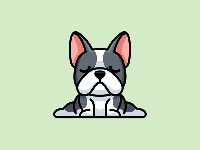 Yoga Bulldog illustrative branding pet adorable sport cartoon mascot animal dog character french frenchie bulldog yoga funny cute logo