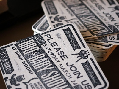 baby shower invites by brian leach dribbble