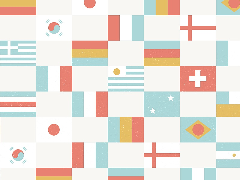 World Cup Pattern pattern world cup vector flags palette