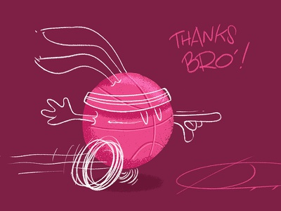 First Shot ! speedpaint white rabbit brush illustration