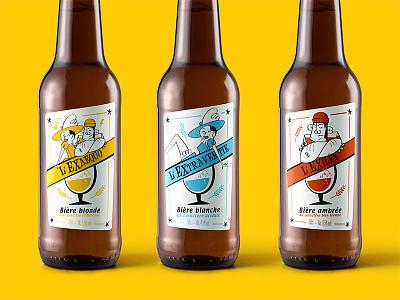 Beer Labels - Brasserie L'Excuse cartoon illustration packaging bottle beer beer label