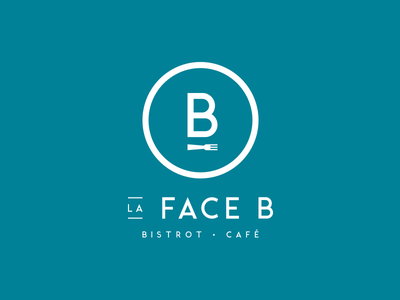 La Face B - Bistrot Café identity fork design logo restaurant coffee bistrot