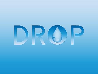 Drop logotype logo