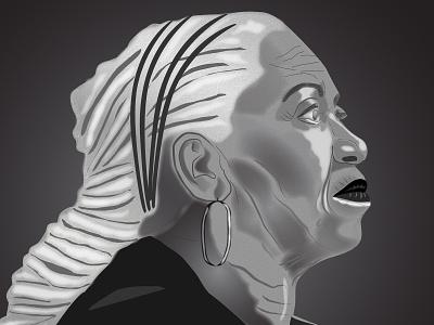 Homage to Tonni Morrison toni morrison figure illustration