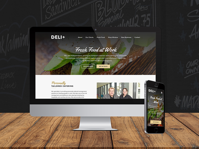 Deli+ - Web Design wordpress graphic design responsive commercial website web design