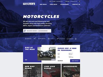 Mount Motorcycles - Web Design wordpress commercial responsive website web design