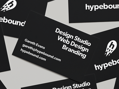 HypeBound - Business Card typography business card print design graphic design