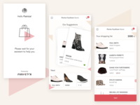 Farfetch app design list shop swipe ui fashion