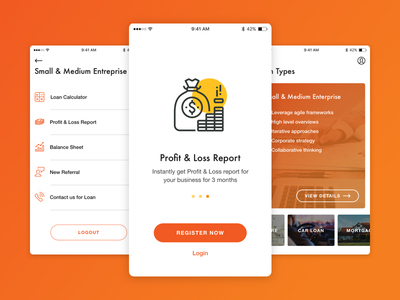 Banking onboarding outsystems banking app mobile ui