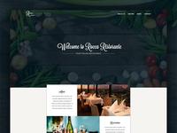 Rocca Ristorante Landing Page