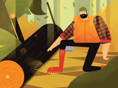 Lumberjack 2 character vector wood man axe nature forest . lumberjack