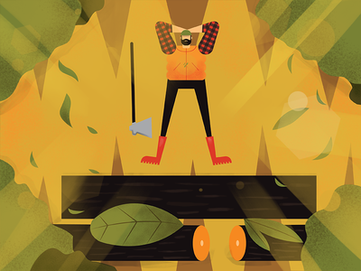 Lumberjack 4 character vector wood man axe nature forest . lumberjack