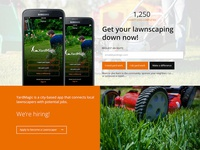 Landing page design [Yardmagic]