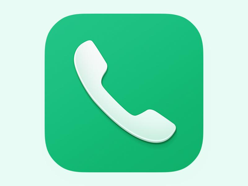 Phone app ios icon phone 7 ios7 flat wtf apple call