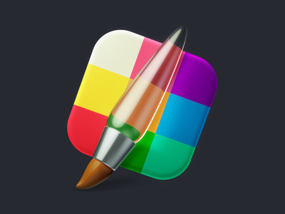 Ampeross icon rebound illustration design color c4d brush ios app ui icon