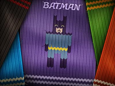 Knitting heroes knitting illustration imhonet web batman hulk freddy mario jack hero