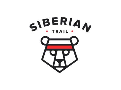 Siberia Trail logo trail siberian run marathon bear logo