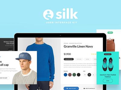 Silk UI Kit ui silk photoshop sketch ui kit web