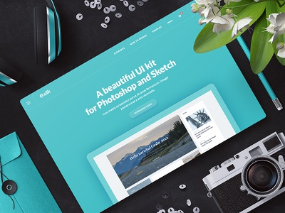 Silk UI Kit sketch photoshop web ui kit silk ui