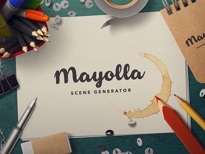 Mayolla Mockup Scene Generator psd mayolla generator scene mockup custom scene