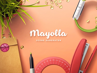 Mayolla Mockup Scene Generator