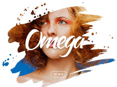 Omega UI Kit — Coming Soon! photoshop landing page interface ui pack announce ui kit
