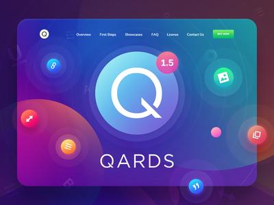 Qards 1.5! update wordpress ux ui tool qards presentation landing framework design css3