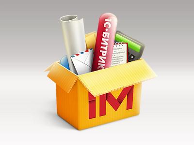 IM System Box im box system mail calc icon 1c