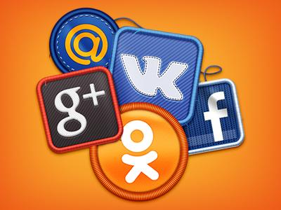 Social icons icon icons social icons social vk g ok facebook mail.ru