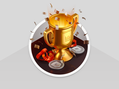 Isometric Trophy Illustration trophy victory sport medal 3d isometric gold fastcup cup illustration