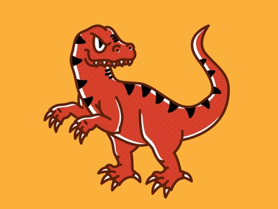Anderson Raptors simple cincinnati magazine cute dinosaurs illustration mascot dinosaur raptor