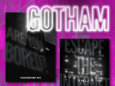 Gotham noir music dance webster hall nightclub flyer gotham