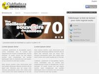 IclubRadio.ca Web Design