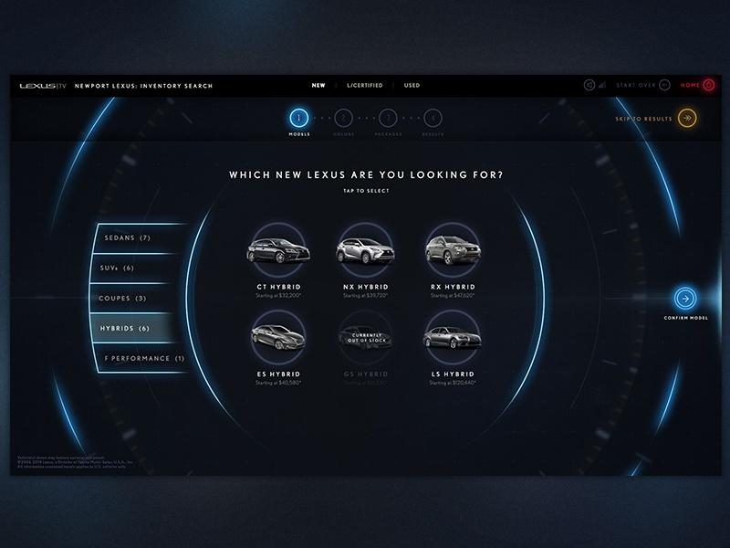 Lexus Kiosk Design by HYFN on Dribbble